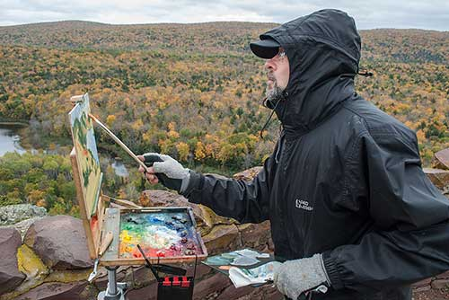 Matt Kania paints plein air