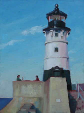 Afternoon Duluth Lighthouse - 12x9