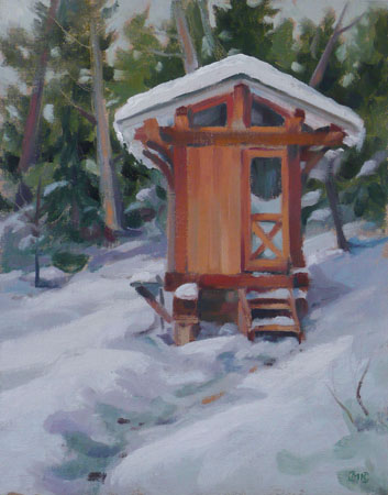 Designer Outhouse - 14x11