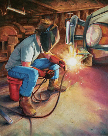 WelcoMax The Young Welder - 38x30