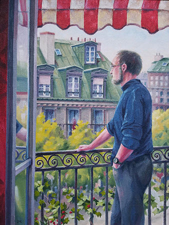 Paris Balcony - 32x24